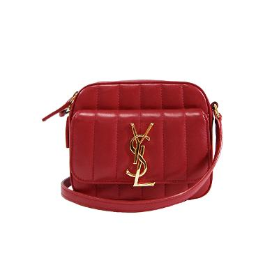 gold logo mini cross bag red